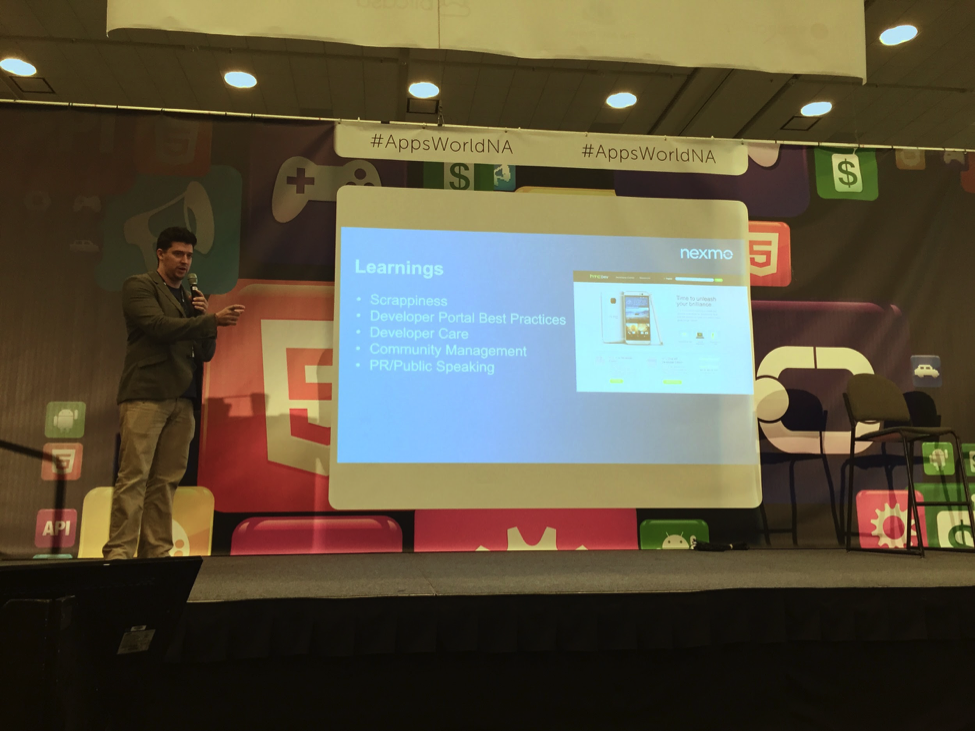 Michael Presenting at AppsWorld