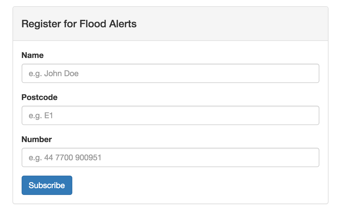 Nexmo Flood Alerts