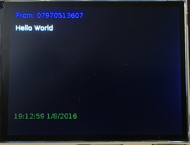 EMF Badge - Hello World message