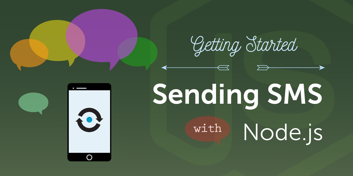 sending SMS with Nexmo Node.js library
