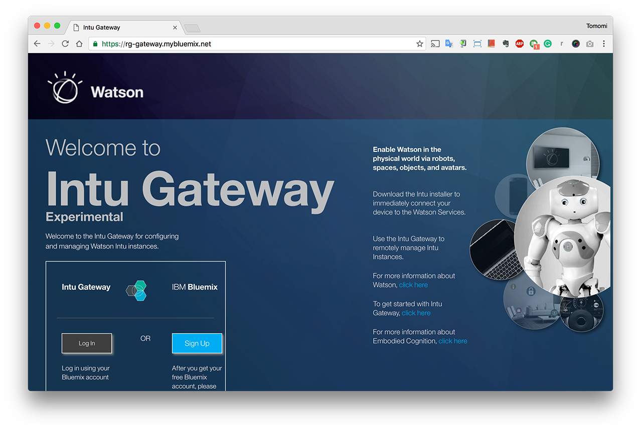 IBM Watson Intu - Gateway