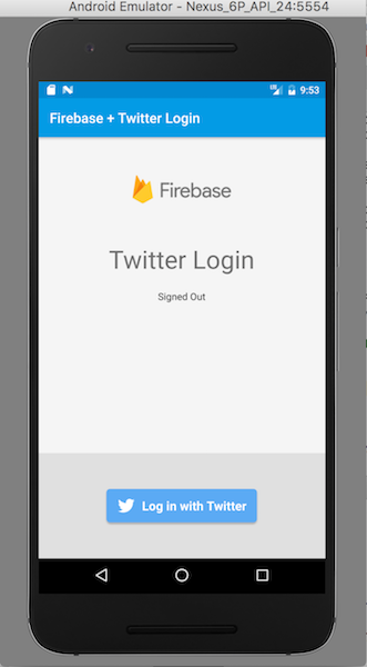Twitter Login Screen
