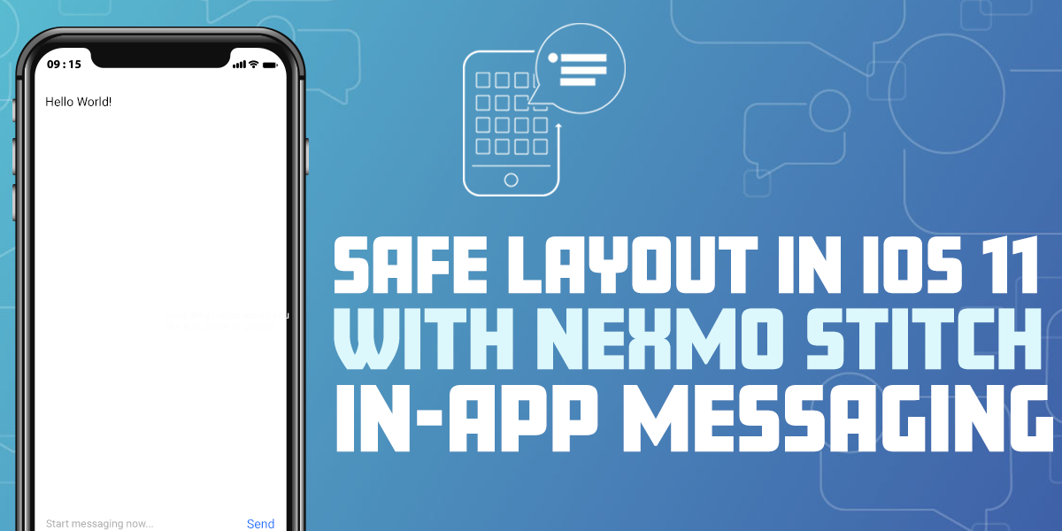 Safe layout in iOS 11 with Nexmo Stitch In-App messaging