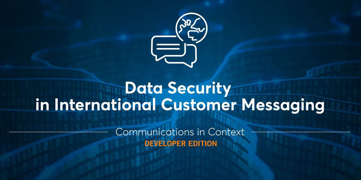 data security in international messaging