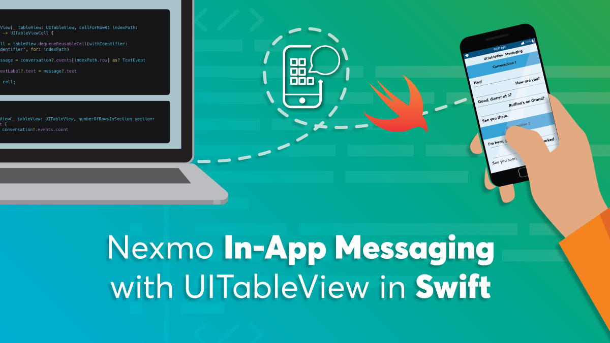 Build a Conversational UI in a UITableView with Nexmo In-App