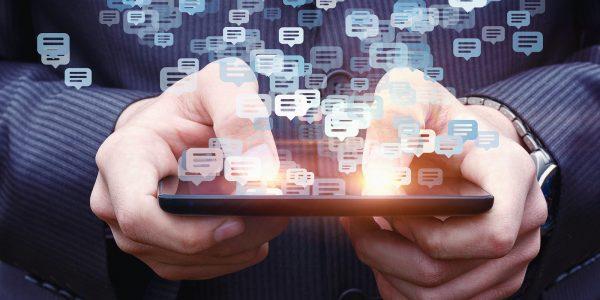 A customer enjoys the benefits of APIs through their mobile device