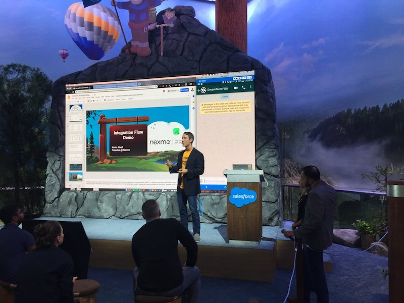 Kevin Alwell at Dreamforce 2018, Mulesoft WhatsApp Salesforce Demo