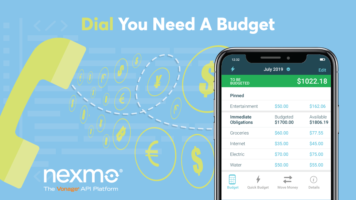 Keep Track of Your Budget with Dial YNAB - Nexmo Developer Blog