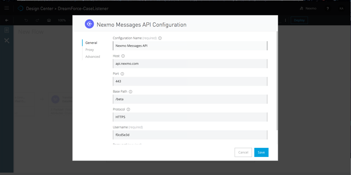 Nexmo Messages API Configuration