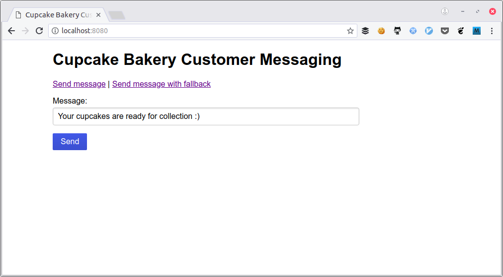 Sending SMS from PHP with Failover: The Cupcake Bakery