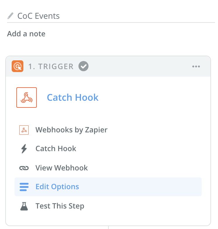 Webhook Trigger Screenshot