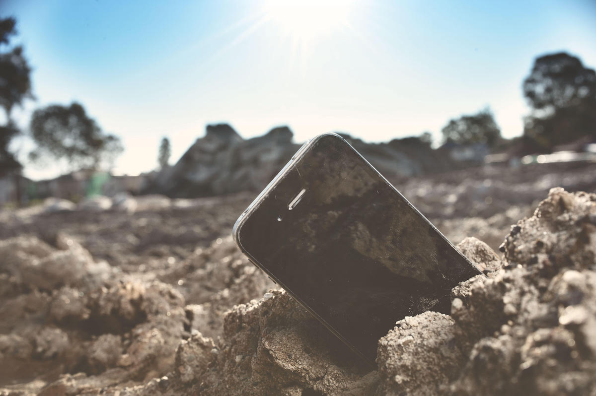 Phone in the Sand