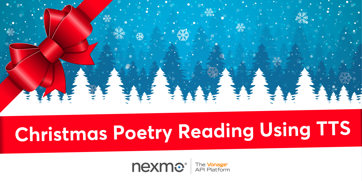 Christmas Poetry Reading Using Text-To