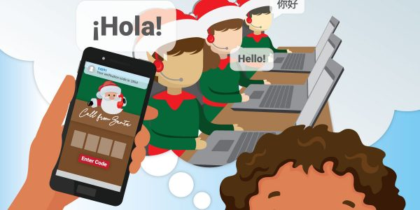 Elves working in a call center