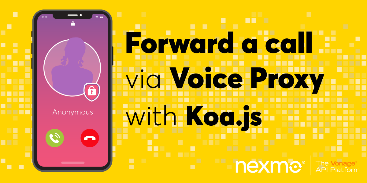 Forward a call via voice proxy with Koa.js