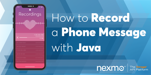 Record a Phone Message with Java