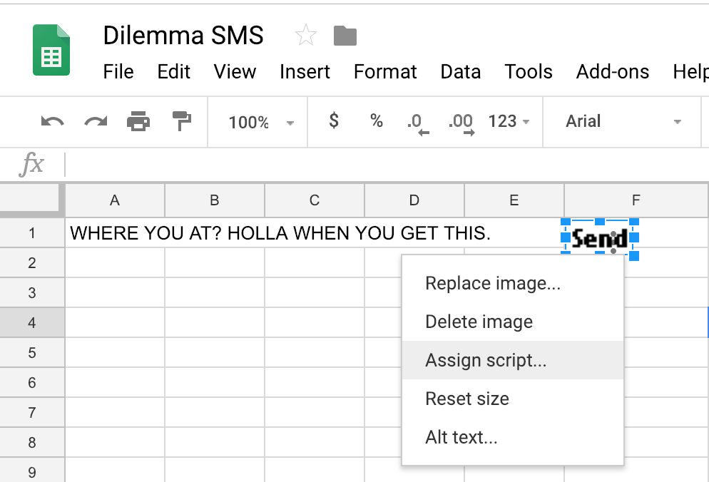 Solving Kelly's Dilemma - How to Send SMS from a Spreadsheet - Nexmo