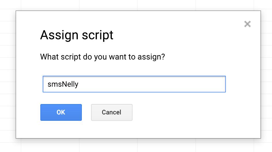 Assign script dialog