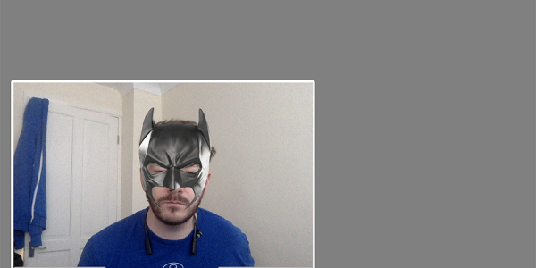 OpenTok.js stream with a Batman mask