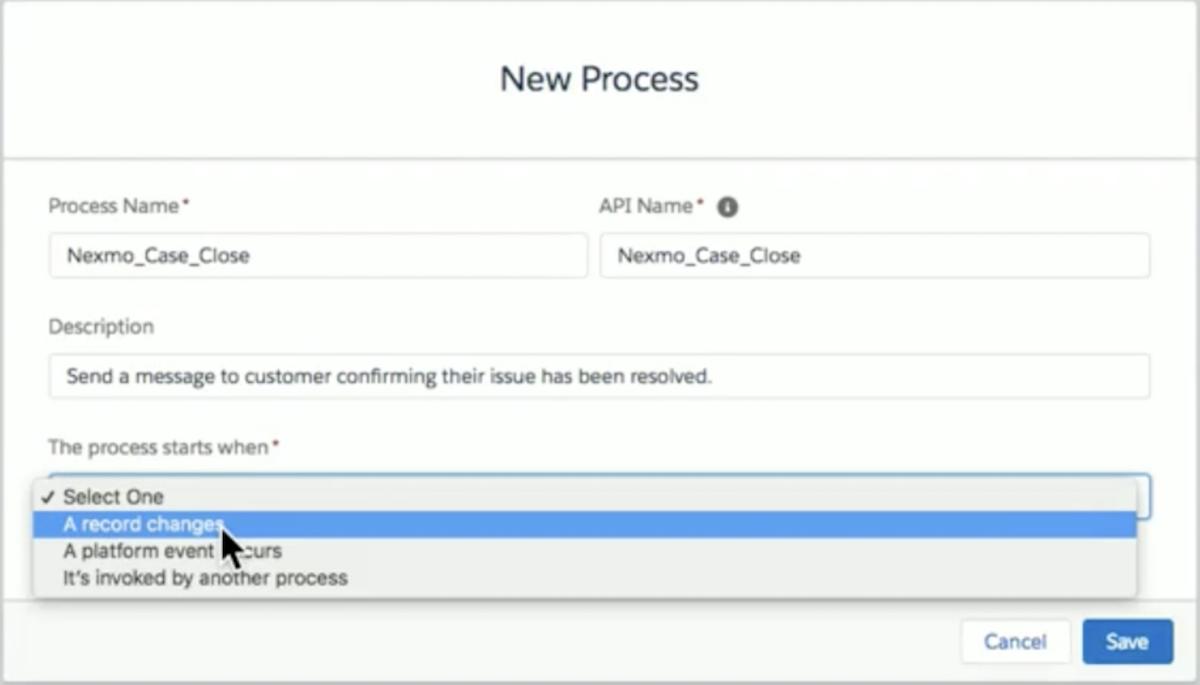 Process builder