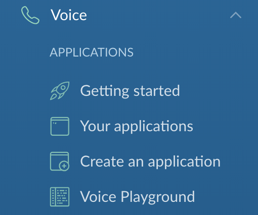 Voice Menu Options