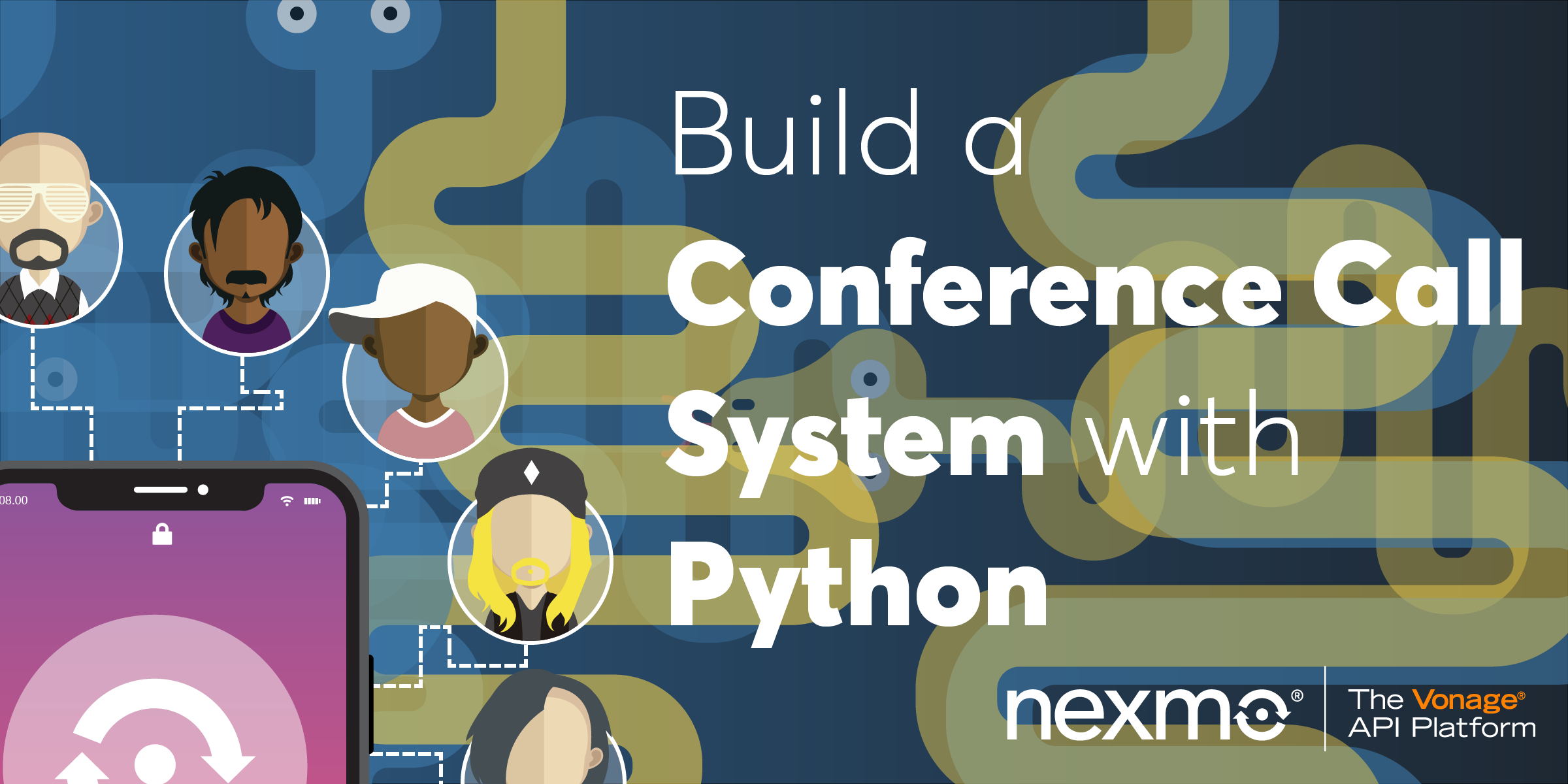 Build a conference call with Python