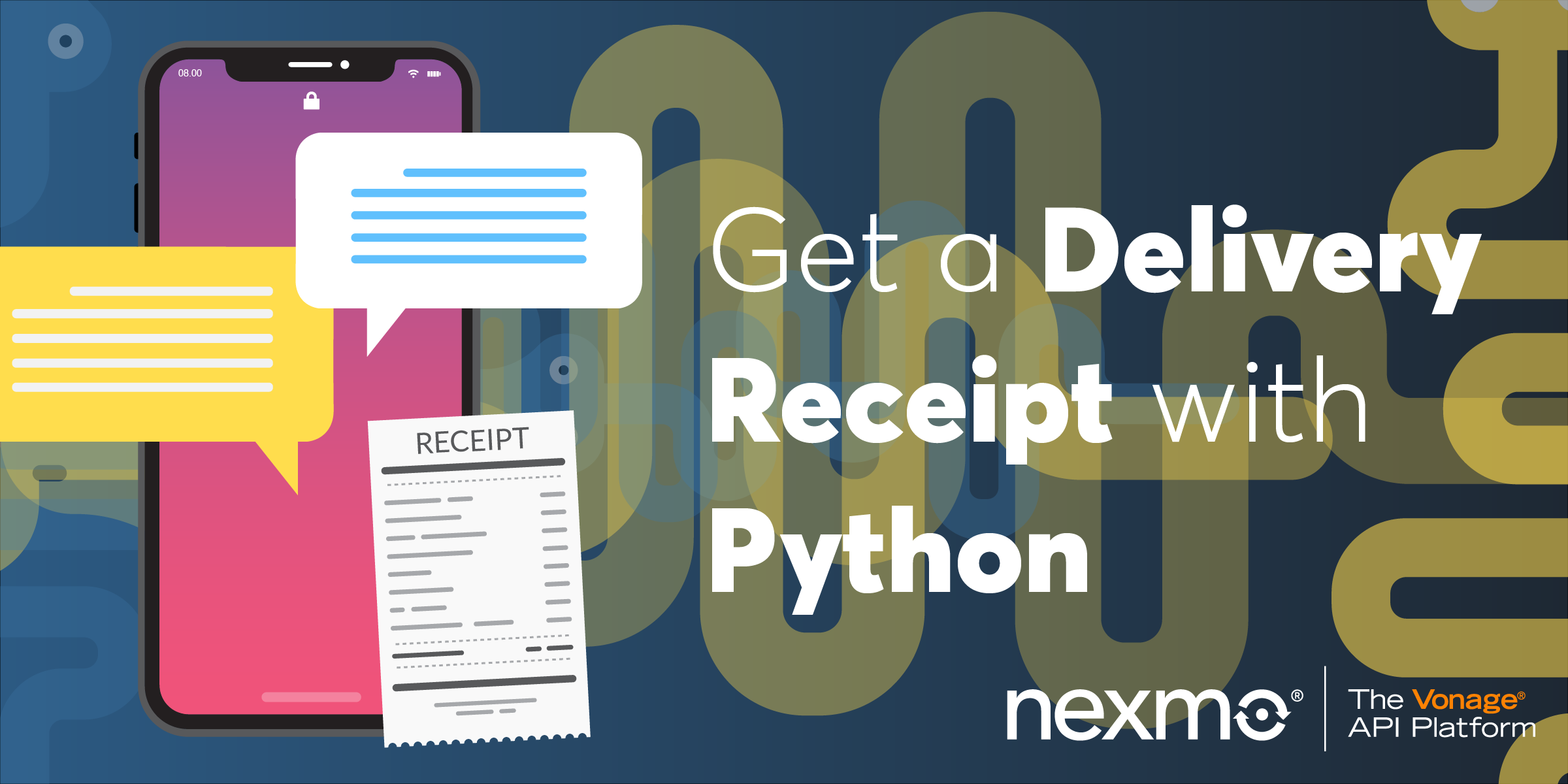 Get a delivery receipt with Python
