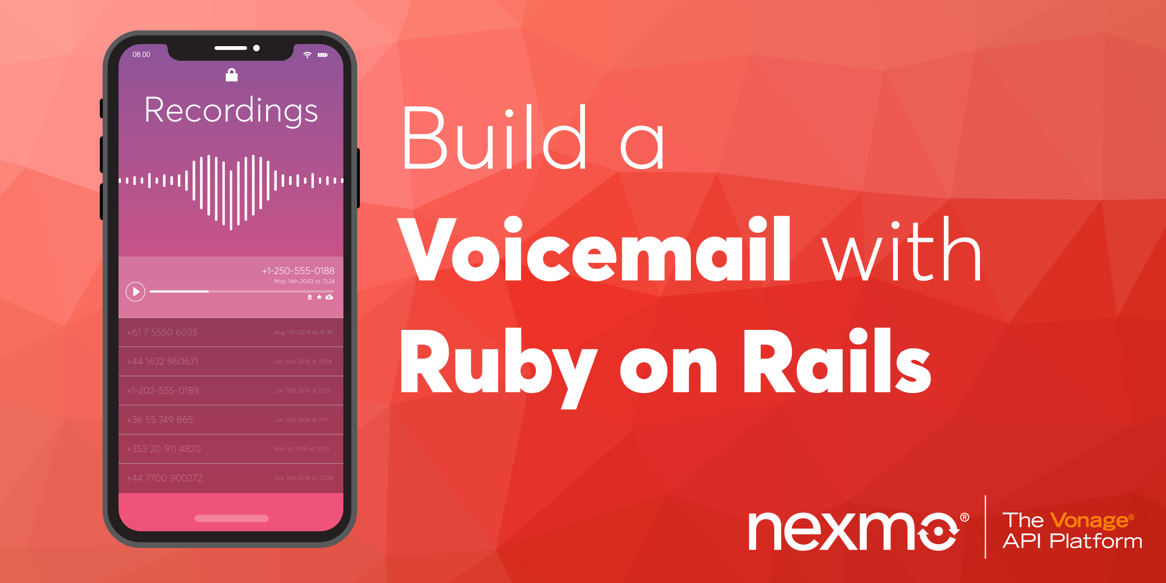 Build a Voicemail with Ruby on Rails - Nexmo Developer Blog