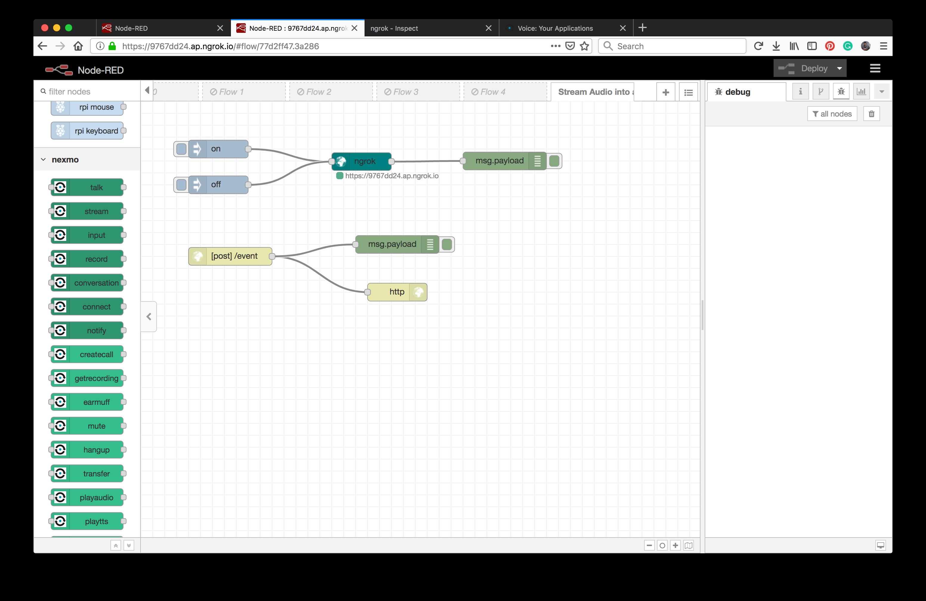 How to Stream Audio into a Call with Node-RED - Nexmo Developer Blog