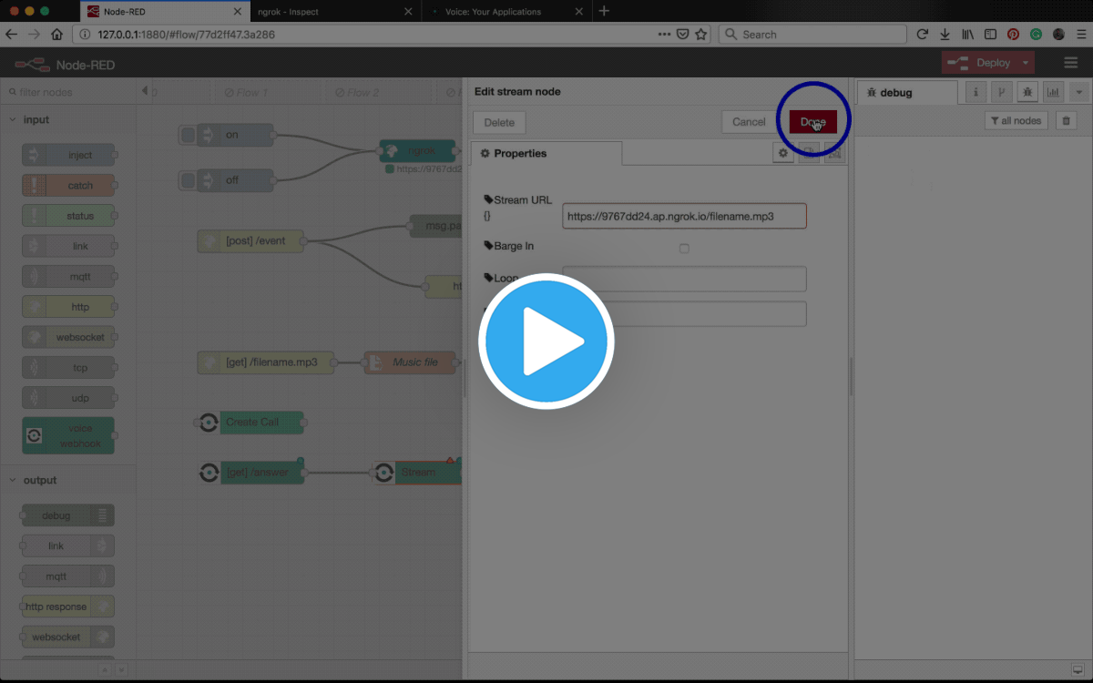 How to Stream Audio into a Call with Node-RED - Nexmo