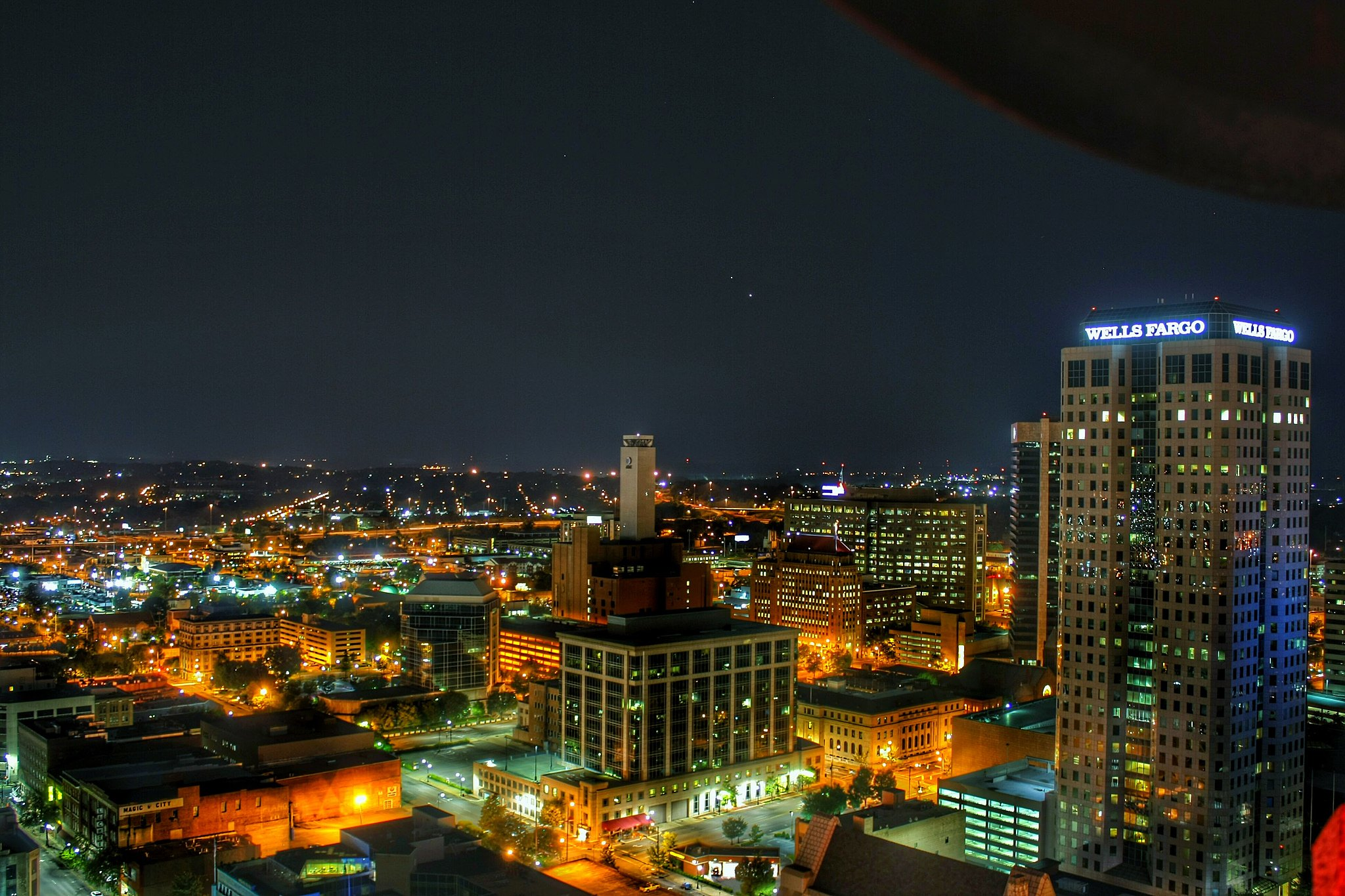 Birmingham, Alabama skyline at night