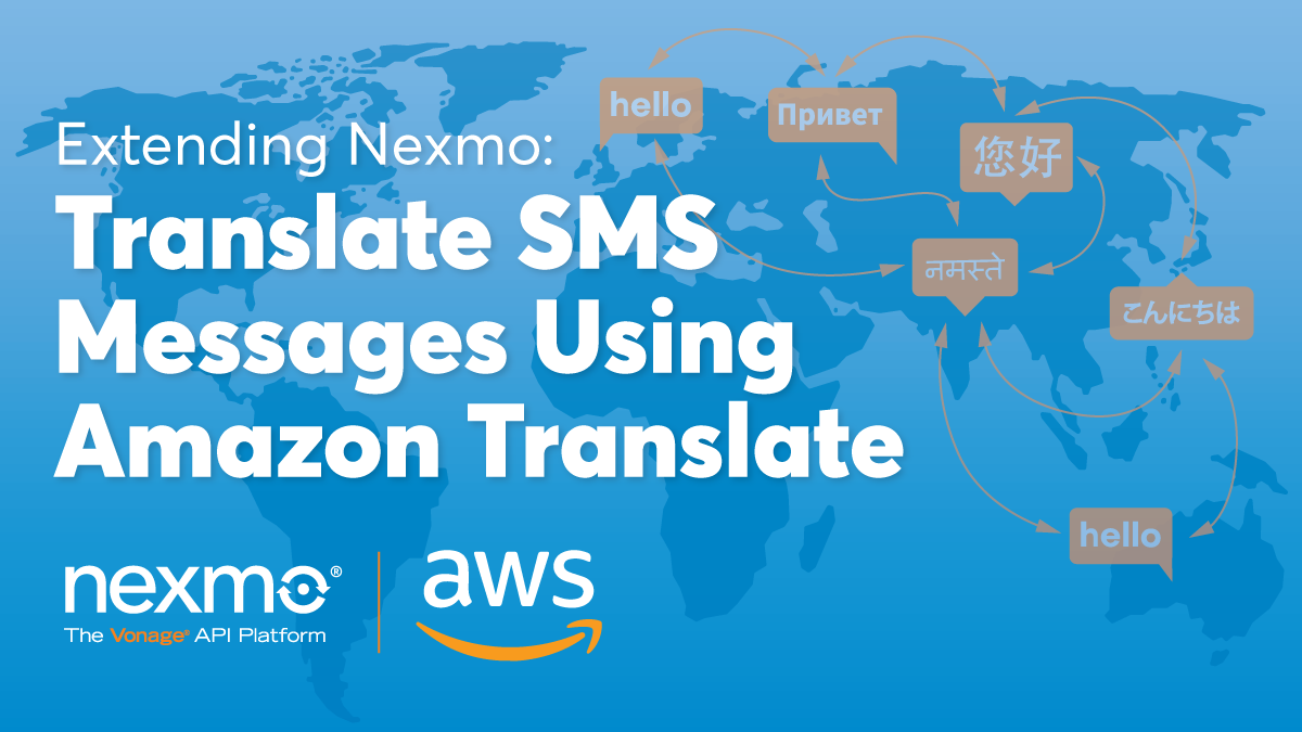 Translate SMS Messages Using AWS Translate