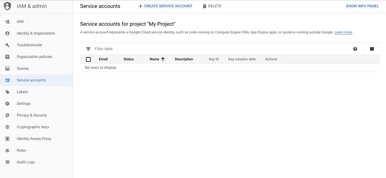 Add New Service Account