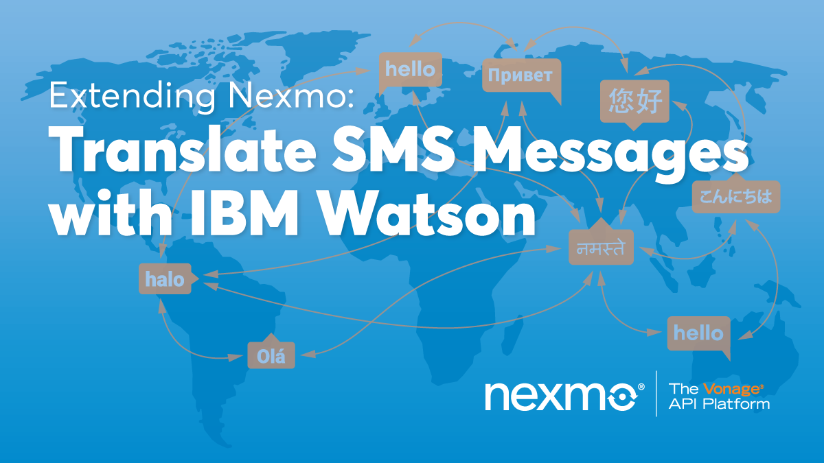 Translate SMS Messages With IBM Watson