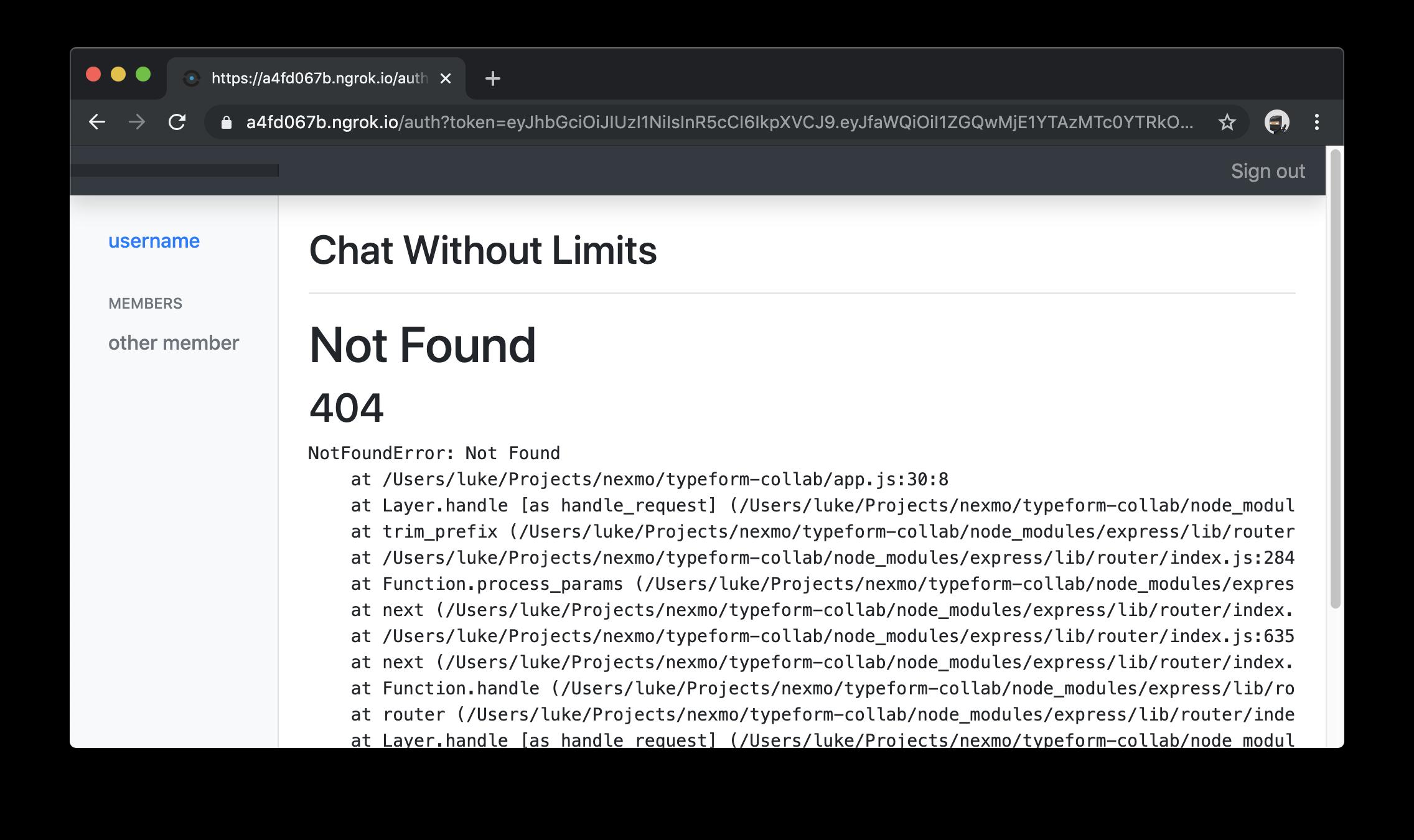 Magic link 404s