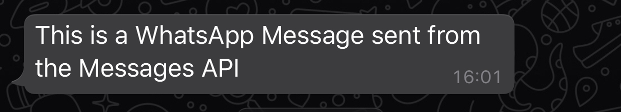 What the message looks like when it is received