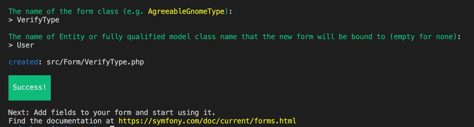Creating a Verify Form