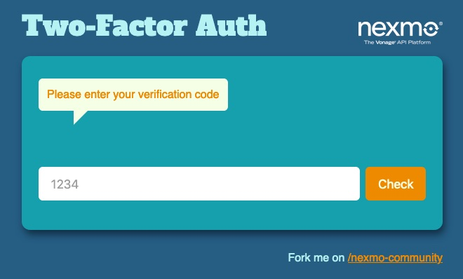 2FA Check Verification