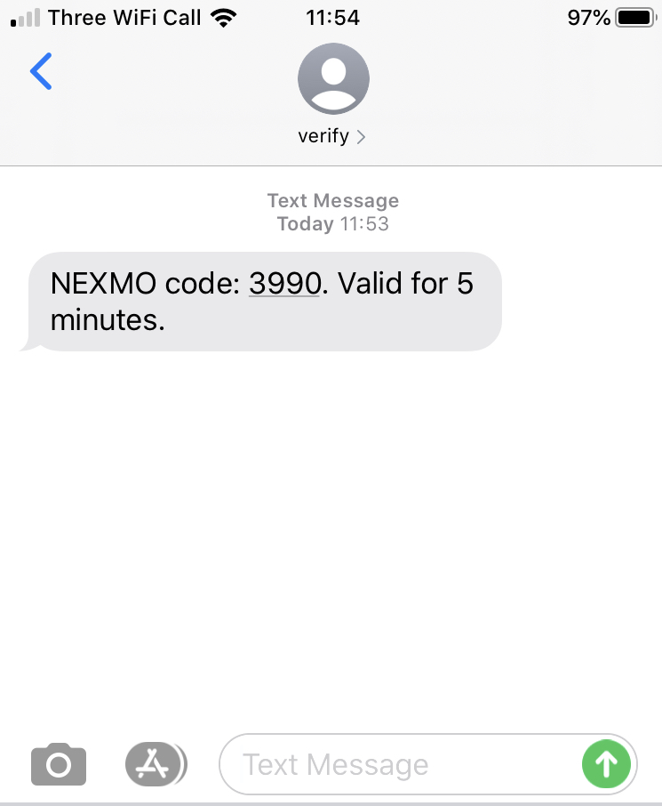 2FA Verification SMS