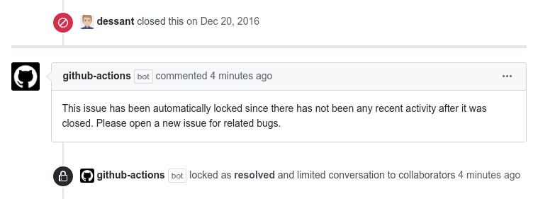Lock Threads Action