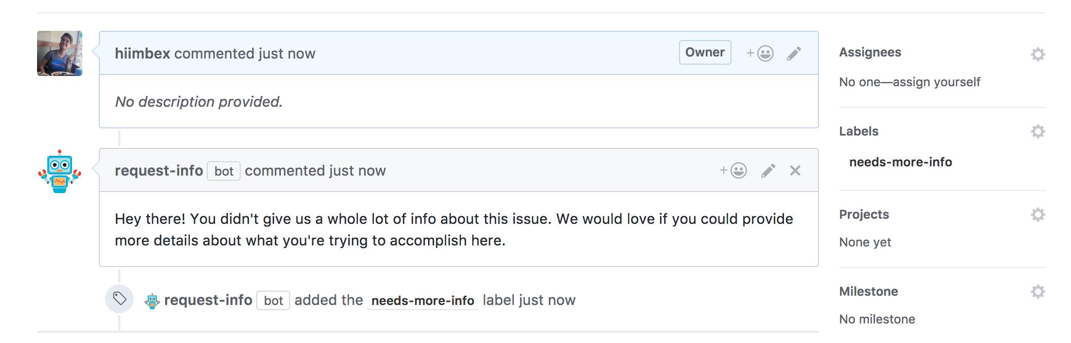 Request-Info bot