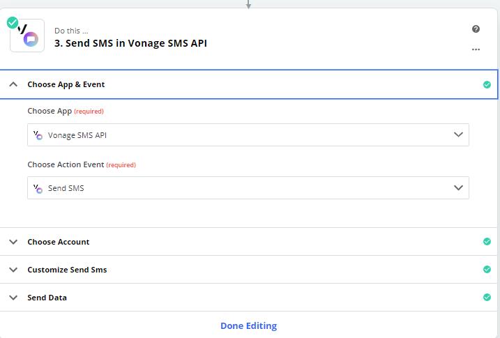 Choose Vonage SMS API