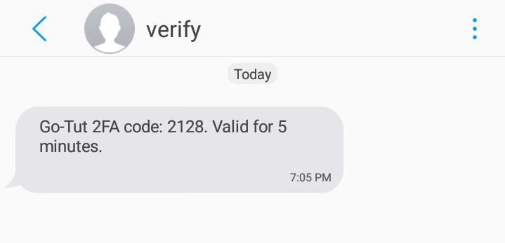 SMS code